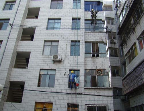 房县七中外墙清洗